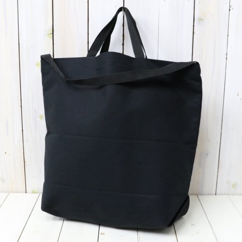 『Carry-All Tote w/Strap-Cotton Double Cloth』(Black)