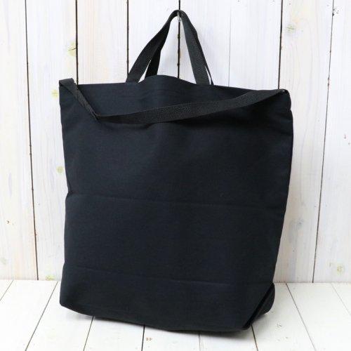 『Carry-All Tote w/Strap-Cotton Double Cloth』(Black)