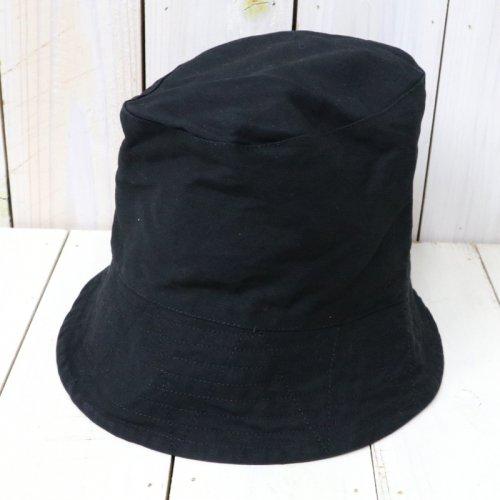 『Bucket Hat-Cotton Double Cloth』(Black)
