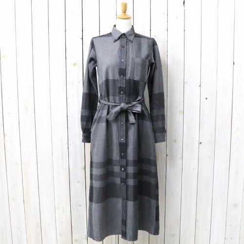 『BD Long Dress-Big Plaid』(Grey)