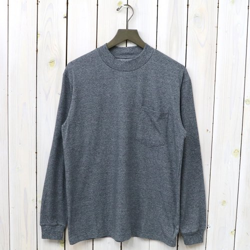 『L/S Mock Neck Tee』(Mix Gray)