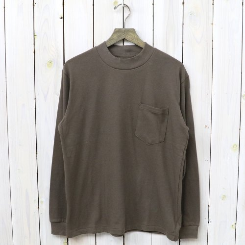 『L/S Mock Neck Tee』(Brown)
