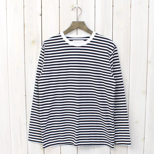 『COOLMAX® St.Jersey L/S Tee』(Navy×White)