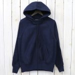 【会員様限定SALE】ENGINEERED GARMENTS『Raglan Zip Hoody-20oz Fleece』(Navy)