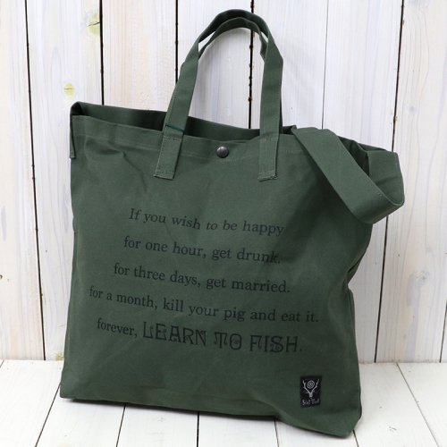『Grocery Bag-Leam to Fish/Fishing Life』(Olive)