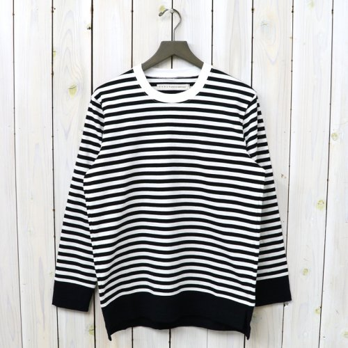 『CONFUSED LS BORDER TEE』(WHITE/BLACK)