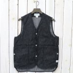 SASSAFRAS『FALL LEAF GARDENER VEST(8oz DENIM)』(BLACK)