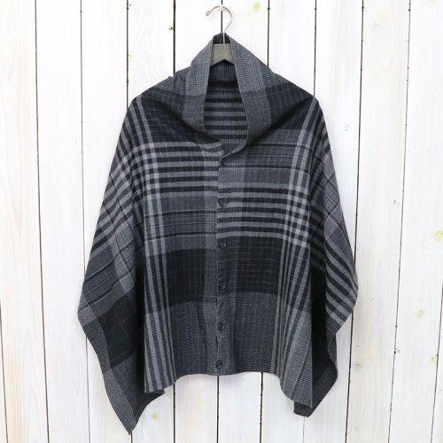 ENGINEERED GARMENTS『Button Shawl-Worsted Wool Plaid』(Grey/Black)