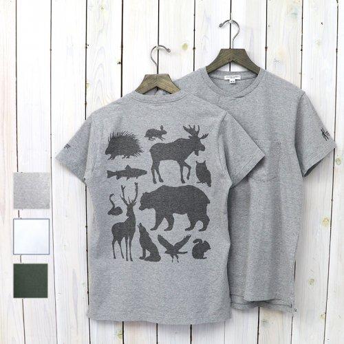 ENGINEERED GARMENTS『Printed Cross Crew Neck T-shirt-Animals』