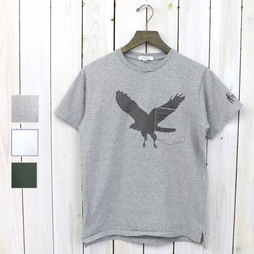 『Printed Cross Crew Neck T-shirt-Eagle』