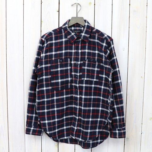 『Work Shirt-Plaid Flannel』(Navy/White)