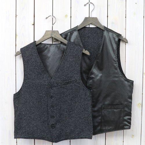 『Reversible Vest-Wool Homespun』