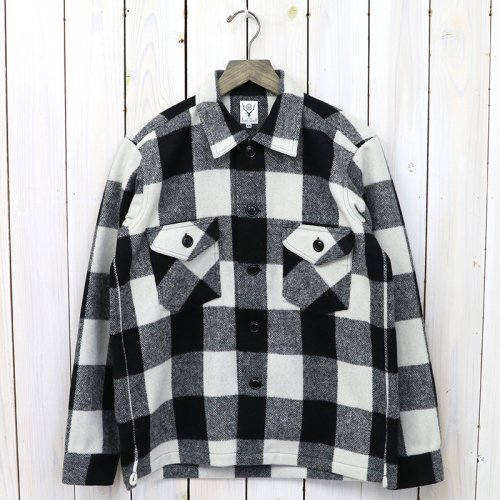 『Smoky Shirt-Buffalo Plaid』(White)