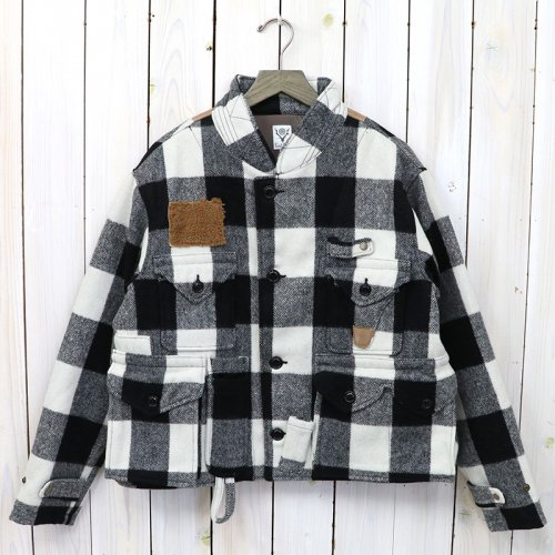 【会員様限定SALE】SOUTH2 WEST8『E.H. Fishing Jacket-Buffalo Plaid』(White)