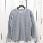 THE NORTH FACE PURPLE LABEL『Crew Neck Thermal Shirt』(Mix Gray)