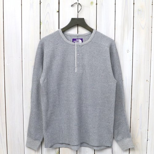 『Henley Neck Thermal Shirt』(Mix Gray)