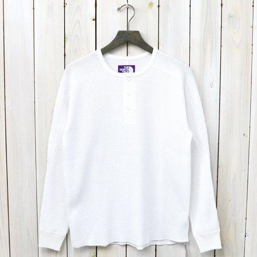 『Henley Neck Thermal Shirt』(White)
