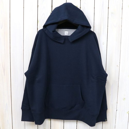 『Double Faced Sewing Hooded Parka Made By LOOPWHEELER』(Navy)