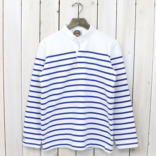 『HENLY NECK LONG SLEEVE』(WHITE/ROYAL)