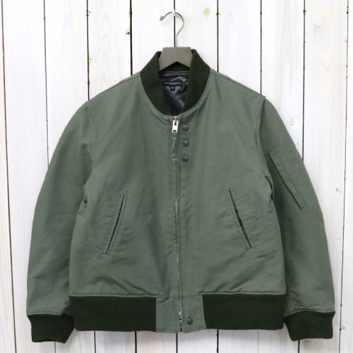 『Aviator Jacket-Cotton Double Cloth』(Olive)