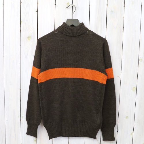 『Seamless Naval Sweater』(Brown/Orange Line)