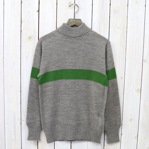 『Seamless Naval Sweater』(Light Gray/Green Line)