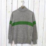 Kaptain Sunshine『Seamless Naval Sweater』(Light Gray/Green Line)