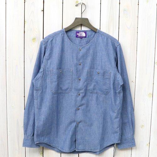 『Cotton Chambray Crew Neck Shirt』(Indigo Bleach)