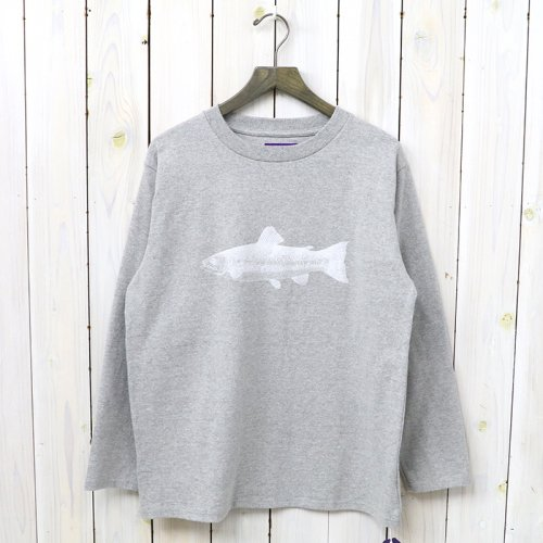 『8oz L/S Graphic Tee』(Mix Gray)