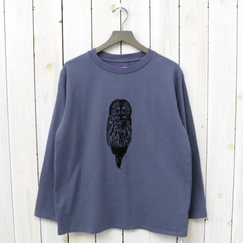 『8oz L/S Graphic Tee』(Ash Navy)