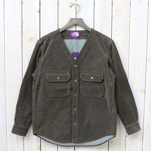 『Corduroy No Collar Shirt』(Brown)