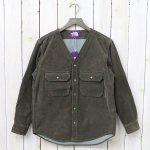 THE NORTH FACE PURPLE LABEL『Corduroy No Collar Shirt』(Brown)