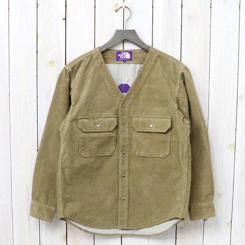 『Corduroy No Collar Shirt』(Beige)