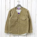 THE NORTH FACE PURPLE LABEL『Corduroy No Collar Shirt』(Beige)
