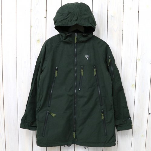 『Zipped Coat-Wax Coating』(Green)