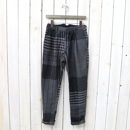 『Willy Post Pant-Worsted Wool Plaid』(Grey/Black)