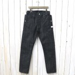 SASSAFRAS『FALL LEAF R SPRAY PANTS(14oz DENIM)』(BLACK)