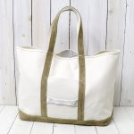 hobo『Cotton Canvas Tote Bag L with Cow Suede』