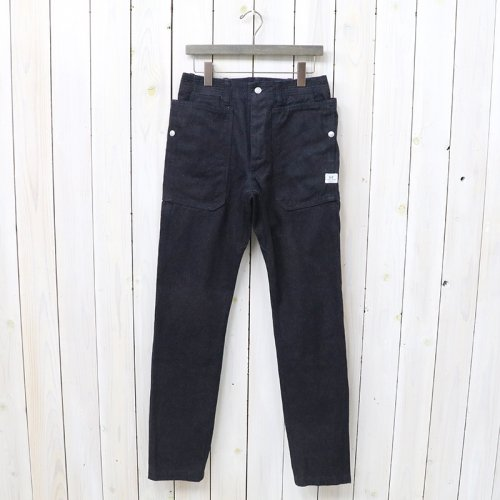 『FALL LEAF SPRAYER PANTS(CHINO DENIM)』(INDIGO)