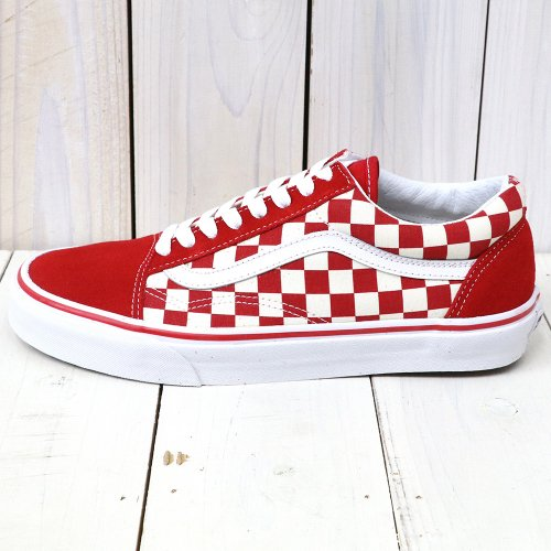 『OLD SKOOL』((PRIMARY CHECK)RACING RED/WHITE)