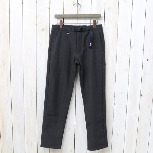 『Polyester Tropical Quilting Pants』(Charcoal)
