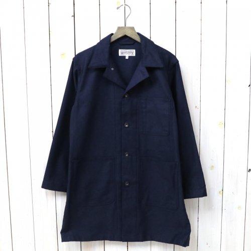 『Shop Coat-Cotton Reversed Sateen』(Dk.Navy)