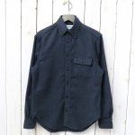 SASSAFRAS『GREEN THUMB SHIRT(T/C HERRINGBONE FLANNEL)』(NAVY)