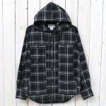 SASSAFRAS『FEEL SUN BUD HALF(HERRINGBONE FLANNEL)』(BLACK)
