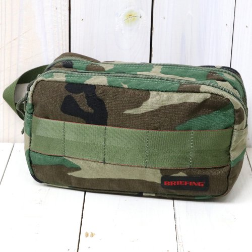 『DOUBLE ZIP POUCH-2』(WOODLAND CAMO)