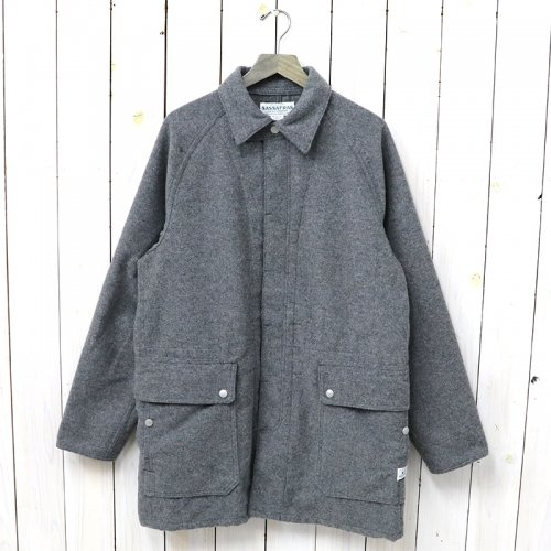 『FALL LEAF COAT(BLANKET)』(CHARCOAL)