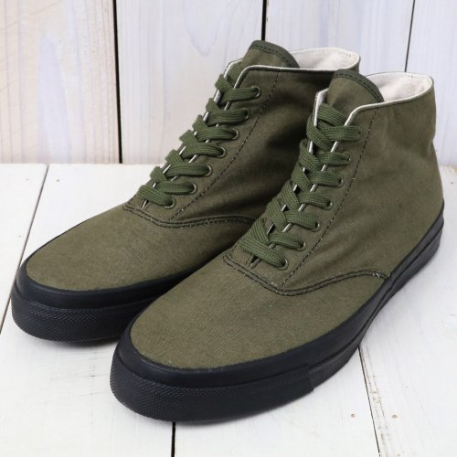 『WAKOUWA DECK SHOES HI』(OLIVE)