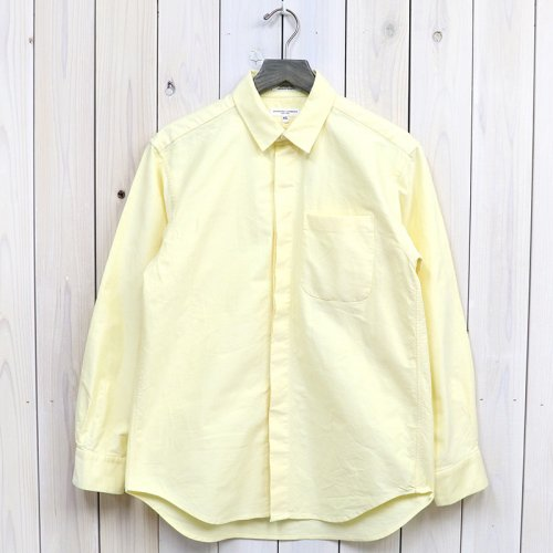 『Short Collar Shirt-Solid Cotton Oxford』(Yellow)