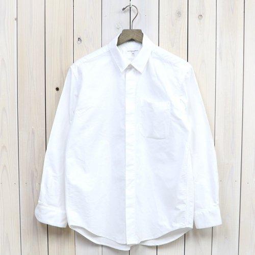 『Short Collar Shirt-Solid Cotton Oxford』(White)