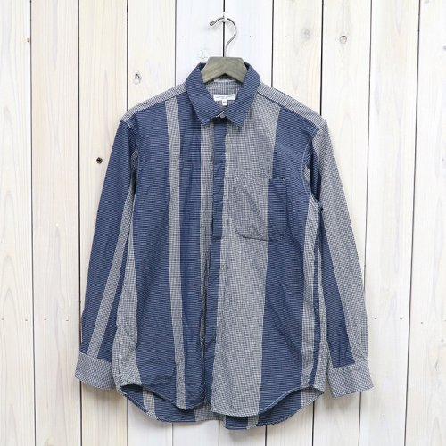 ENGINEERED GARMENTS『Short Collar Shirt-Mini Gingham Big St.』 (Dk.Navy/Grey)